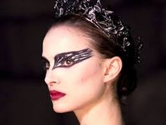 Resultado de imagen de maquillaje halloween cisne negro
