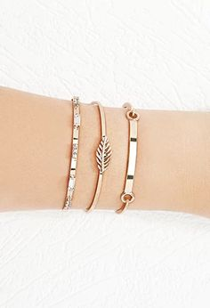 Feather Cuff and Bracelet Set   Forever 21   #f21accessorize