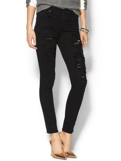 LESLIE~ A Gold E Sophie Jeans in Stardust. My Black Distressed Denim Style