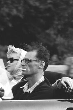 Actress Marilyn Monroe (1926-1962), with playwright Arthur Miller (1915-2005), 1956.