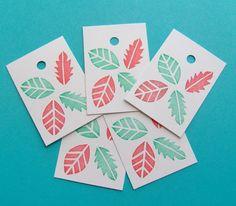 Leaf gift tags set of 24 leaf gift tags wedding by HVasilevShop