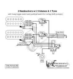 2 Humbuckers3Way Lever Switch2 Volumes1 Tone