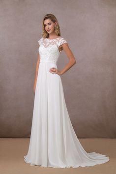Wedding Dresses Under 500, Perfect Wedding Dress, Wedding Dress Styles, Dream Wedding Dresses, Bridal Dresses, Wedding Gowns, Conservative Wedding Dress, Campground Wedding, Wedding Dress Chiffon