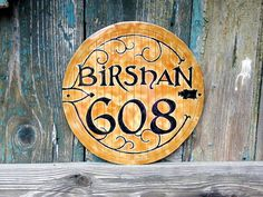 Hobbit themed door sign, house number sign   Reserved for beccapecca - Personalised enamel door sign, house number sign - Hobbit theme #hobbit #thelordofrings