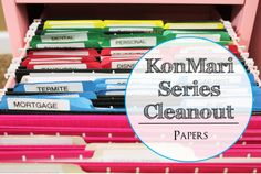 konmari series cleanout - papers
