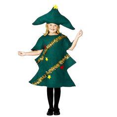 Kerstboom kostuum voor kinderen. Dit kerstboom kostuum bestaat uit een kerstboom…