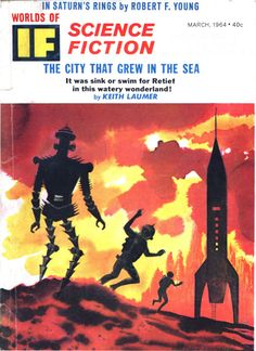 scificovers:  Ifvol 14 no 1 March 1964. Cover by Norman Nodel illustratingGuardian by Jerome Bixby.