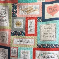 I'm loving this Heart and Soul panel by Deena Rutter for Riley Blake Designs. It's 56x67. Right there you have a quilt top ready to go! Check out some of the details! #heartandsoulfabric #iloverileyblake #rileyblakedesigns