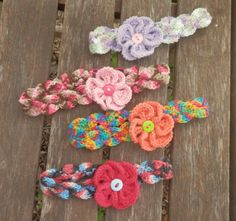 Baby Spring Flower Headband- Variegated Color Crochet Handmade Headband with  Matching Solid Flower on Etsy, $8.00