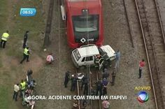 CONEXÃO BOMBEIRO : Motorista morre após invadir trilho da CPTM em Ita...