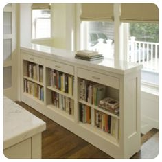 pinterest bookshelves | How genius is that to remove the stair wall and railing and put in a ...