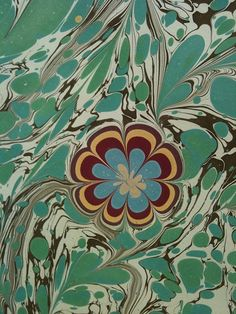ebru flowers by Miss Marbling, via Flickr