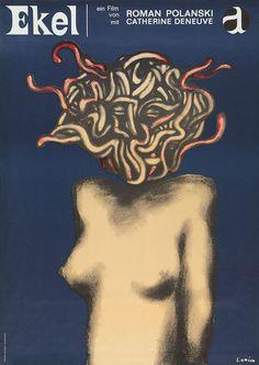 German poster for Repulsion (Roman Polanski, UK, 1965); Artist: Jan Lenica (1928-2001).