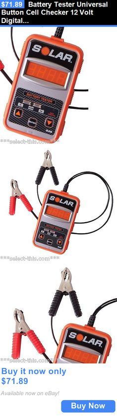 Battery Testers: Battery Tester Universal Button Cell Checker 12 Volt Digital Lcd Display Solar BUY IT NOW ONLY: $71.89