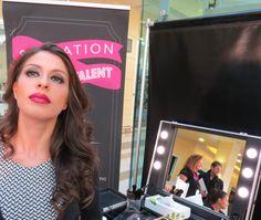 """Paola, una top client del punto vendita Sensation Profumerie di Catanzaro, esibisce il trucco """"tema fotografico"""" realizzato da Francesco D'Agostino MUA Givency le Make Up."""