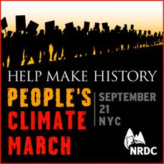 Watch and Share the People's Climate March (32 second) Video from NRDC. March September 21. Make History.