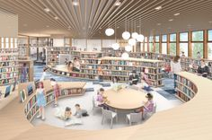 Architecture 菊池市生涯学習センター愛称募集 Rekrutierung von Spitznamen im Kikuchi Lifelong Learning Center architecture Rekrutierung von Spitznamen im Kikuchi Lifelong Learning Center - Dress Models Public Library Design, Bookstore Design, Library Cafe, School Library Design, Kids Library, Modern Library, Photo Library, Library Architecture, Architecture Collage