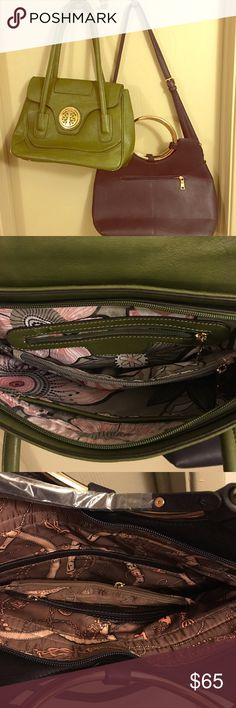 🍁Fall Purse Sale!🌿🍆 Both purses are just the color you need for your fall wardrobe!!! NWOT. Can be purchased together or I can list separate. Olive green and deep eggplant must haves!!! Bags Satchels