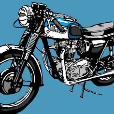 Motorcycle Posters, Motorcycle Types, Motorcycle Art, Bike Art, Bike Illustration, Graphic Illustration, Triumph Motorcycles, Vintage Motorcycles, Different Types Of Motorcycles