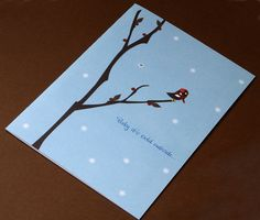 """Conventionally Printed """"Cold Outside"""" Card from Sky of Blue Cards"""