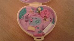 Bluebird-Vintage-Polly-Pocket-1994-Strollin-Baby-Playset-w-Figures-Lot-COMPLETE