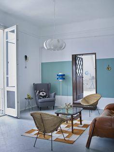 Casinha colorida: Um apê minimalista com atmosfera dos anos 60