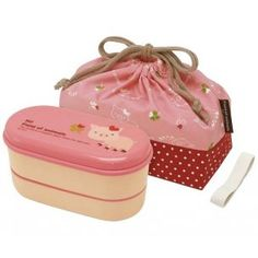 super cute lunch box set ..piggy <3 with chopsticks and removal divider