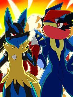 [Collaboration] Battle Win by Winick-Lim on DeviantArt Pokemon Ash Greninja, Pokemon Kalos, Pokemon Manga, Pokemon Comics, Pokemon Real, Baby Pokemon, Pokemon Ships, Pokemon Fan Art, Cool Pokemon Wallpapers