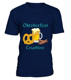 # OKTOBERFEST TRIATHLETE FOOD BEER PRETZEL .  Solid colors: 100% Cotton; Heather Grey: 90% Cotton, 10% Polyester; All Other Heathers: 65% Cotton, 35% PolyesterImportedMachine wash cold with like colors, dry low heatLightweight, Classic fit, Double-needle sleeve and bottom hem