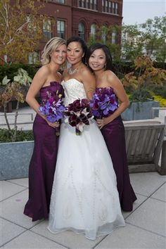 #weddingflowers #weddings www.lavenderhillflorals.com Thai Bride. Orchid Wedding bouquet. Purple wedding flowers.