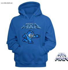 Mega Man Mega Gunner Men's Sweatshirt With Hood Video Game T Shirts, Movie T Shirts, Mega Man, Cool Hoodies, Mens Sweatshirts, Funny Tshirts, Hoods, Graphic Sweatshirt, Gaming