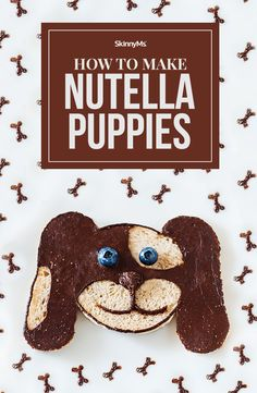 If you're looking for a way to entertain the kids, our Nutella Puppies Craft Recipe is the perfect option for a fun and delicious snack (and craft) time! Healthy Snacks For Kids, Yummy Snacks, How To Make Nutella, Puppy Crafts, Nutella Spread, Whole Food Recipes, Dinner Recipes, Sugar Free Desserts, Food Crafts
