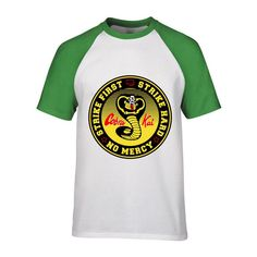 3242ff18f T Shirts Casual Brand Clothing Cotton New Cobra Kai Karate Kid Movie Men'S T  Shirt hombre camiseta printed Tees 1
