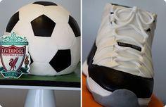 τουρτα για αγορια:πώς θα φτιάξετε με ζαχαρόπαστα τούρτα μπάλα και μια τούρτα παπούτσι Nike!Ιδέες για παιδικό πάρτυ στο σπίτι και γενέθλια!