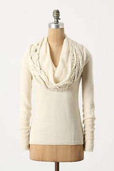 Anthropologie Iced Garland Cowlneck
