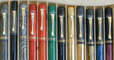 Learn how to find the right Pelikan fountain pen for you, including history, how & where to buy and what to look for in pens. Pelikan Fountain Pen, Fountain Pen Ink, Antique Fountain Pens, Vintage Pens, Fine Pens, Writing Instruments, Pencil, Pen Pals, Guy Stuff