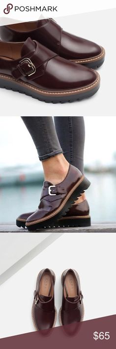 Zara flat monk style shoes with buckle Sturdy shoes with thick soles... euro size 39 Zara Shoes