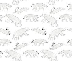Arctic Animals fabric by helen_munch on Spoonflower - custom fabric