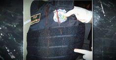 Fotos mostram furo em colete usado por policial morto em Alagoas