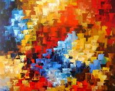 PAINEL ABSTRATO COLORIDO 80X100 COD 58 Magritte, Pointillism, Watercolor, Photography, Painting, Vertical, Oil Paintings, Beautiful Paintings, Sagrada Familia
