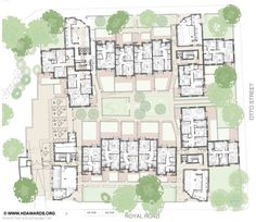 Royal Road, Kennington, Panter Hudspith Apartment Plans, Semi Detached, Brick, Floor Plans, London, How To Plan, Architecture, Apartments, Maps