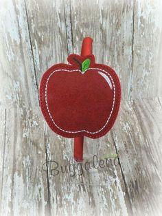 Apple BuggaBand Headband Slider Embroidery Design by Buggalena