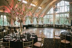 Classic and glamorous indoor wedding reception venue decor {OLLI STUDIO}