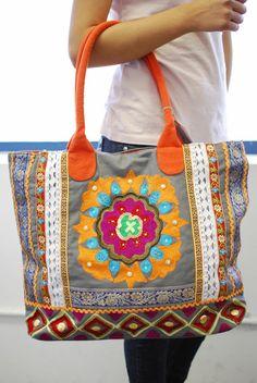 sac en toile, un sac cabas style boho