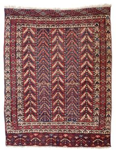 Yomud tree design ensi 5ft. 11in. x 4ft. 8in. (181 x 143 cm) Turkmenistan circa 1850