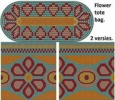 Tapestry Crochet Patterns, Crochet Stitches Patterns, Beading Patterns, Stitch Patterns, Knitting Patterns, Mochila Crochet, Crochet Tote, Crochet Purses, Knit Crochet