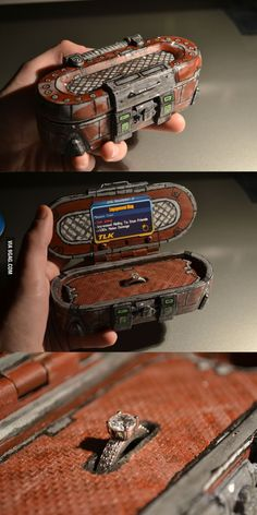 A Borderlands 2 Loot Chest Makes a Fantastic Engagement Ring Box / Steampunk