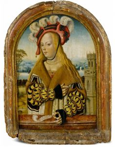 Portrait of a young woman as allegory warning against foolishness and false love   attr.to the Master of the portraits of the Princes,1485-1500