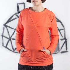 Buy the Geodesic Top sewing pattern from Blueprints for Sewing. Geodesic is a patchwork pullover that can be sewn as a crop top or as a tunic with pockets. Sewing Men, Sewing Clothes, Men Clothes, Sewing Patterns Free, Free Sewing, Clothes Patterns, Old Tee Shirts, Full Bust Adjustment, Independent Clothing