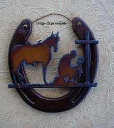 Image result for making decor with horseshoes and wood